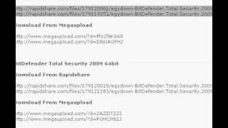 BitDefender AntiVirus 2009 full and free.....