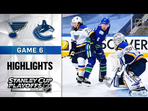 NHL Highlights | First Round, Gm6: Blues @ Canucks - Aug. 21, 2020