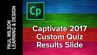Adobe Captivate 2017 - Custom Quiz Results Slide Using Fluid Boxes