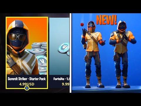 "NEW ""Summit Striker"" STARTER PACK In Fortnite! - ALL Leaked Skins & Emotes GAMEPLAY!"