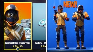 "NEW ""Summit Striker"" STARTER PACK In Fortnite! - ALL Leaked Skins & Emotes GAMEPLAY!"