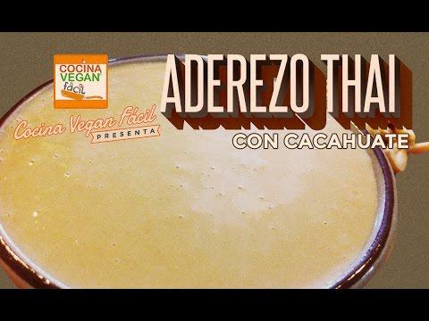 Aderezo thai con cacahuate - Cocina Vegan Fácil