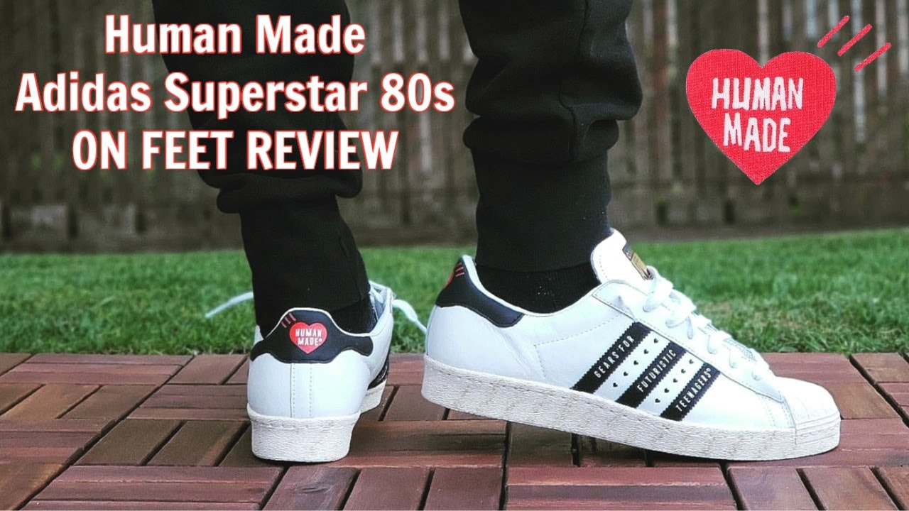 Pakistán impacto sentido  Human Made x Adidas Superstar 80s ON FEET REVIEW - YouTube