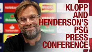 Klopp and Henderson's PSG press conference | Neymar, Firmino and Champions League chances