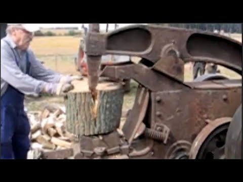 Awesome Biggest Homemade Wood Splitter - Extreme Fast Firewood Processing Machine Modern Technology