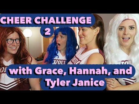 CHEER CHALLENGE 2 w/ Grace, Hannah, & Tyler!