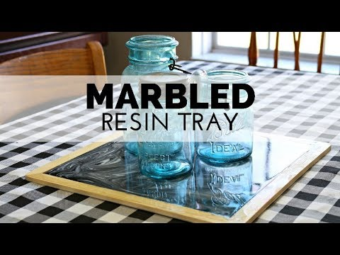 How to Make a Dollar Store Marbled Resin Tray