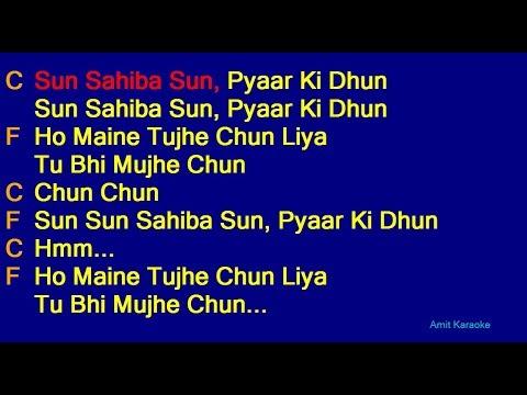 Sun Sahiba Sun - Lata Mangeshkar Hindi Full Karaoke with Lyrics