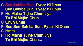 Sun Sahiba Sun - Lata Mangeshkar Hindi Full Karaoke with Lyrics