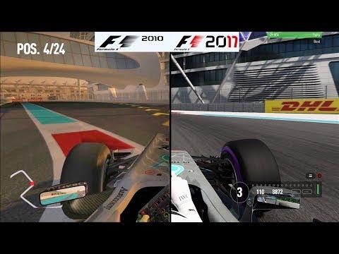 F1 Game Comparison (2010 - 2017 Yas Marina (Abu Dhabi) Hotlaps)