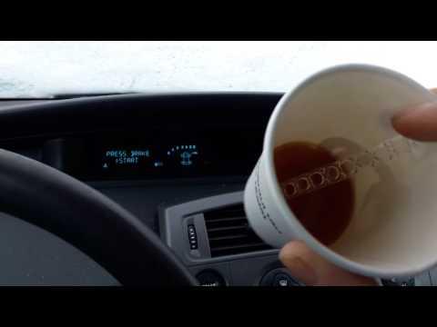 Как заводится дизель в мороз. 1.5 Dci