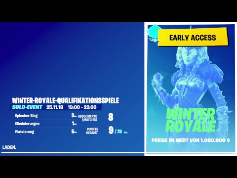 Guten Abend Stream! Winter Royale Turnier! Fortnite battle royale! [2000 Siege] [Road to 22K] thumbnail