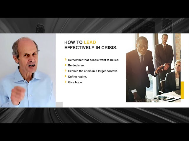 GEOFF COLVIN: Leading Effectively in a Crisis