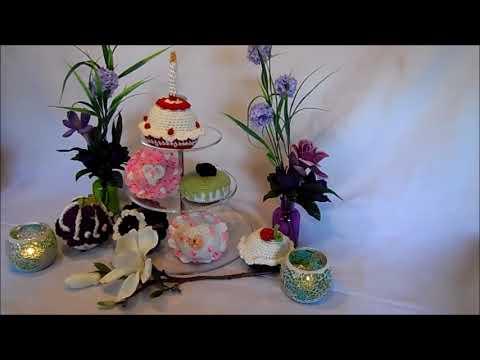 Diy Muffin Cupcake Törtchen Häkeln Selber Machen Erdbeer