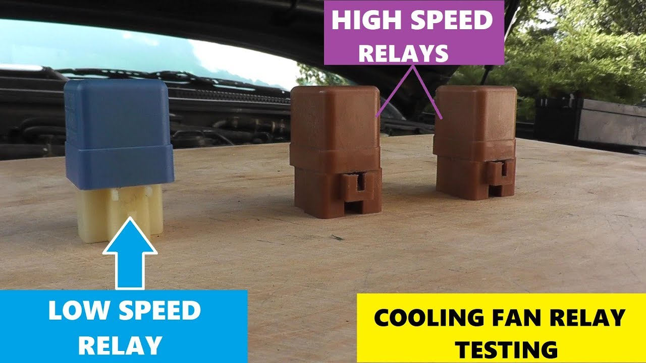 how to test cooling fan relays - low and high speed