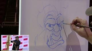 Disney Artist Clinton T  Hobart demonstration at the 2019 Ace Comic Con Arizona