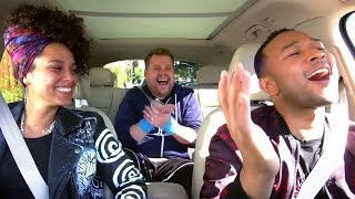 Alicia Keys & John Legend Cracks Corden Up With HILARIOUS Carpool Karaoke