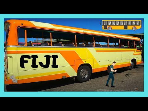 FIJI, the graphic BUS STATION of its capital SUVA (Pacific Ocean)