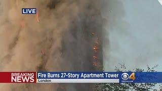 Firefighters Battle Massive Apartment Fire in London