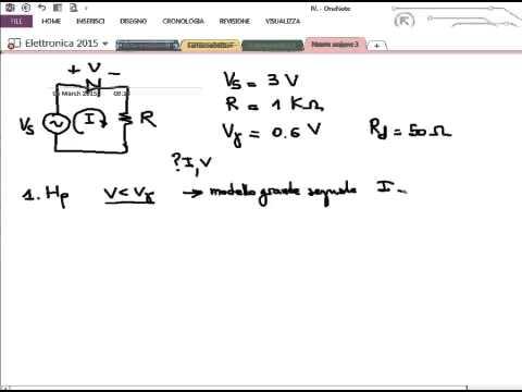 Modello del diodo di grande e piccolo segnale - Lezione - Elettronica 2015