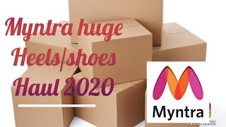 MYNTRA HEELS/SHOES HAUL 2020