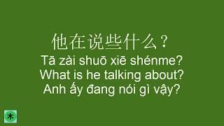 Learn Chinese Conversation full - Câu giao tiếp tiếng Trung thông dụng