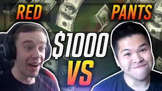 $1000 1v1!! - REDMERCY VS PANTS SHOWDOWN | League of Legends
