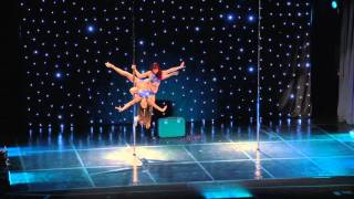 Mary & Jo - Greek Pole Dance Championship 2016 by Rad Polewear - Doubles Division