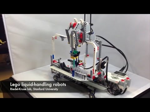 Liquid-handling Lego robots 1: Hands-on learning of modern biotechnology concepts