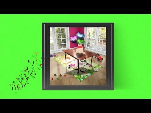 Happy Birthday Interactive Magical Animated Frame    Song   Green Screen HD