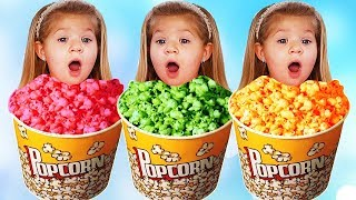 Little Diana Pretend Play Learn Colors with Popcorn