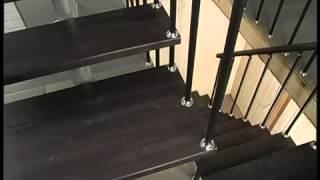 Монтаж модульной лестницы для телеканала НТВ(Лестницы для дома. Изготовление и монтаж лестниц. Продажа готовых лестниц. Лестницы деревянные ,бетонные,..., 2014-07-26T07:45:44.000Z)