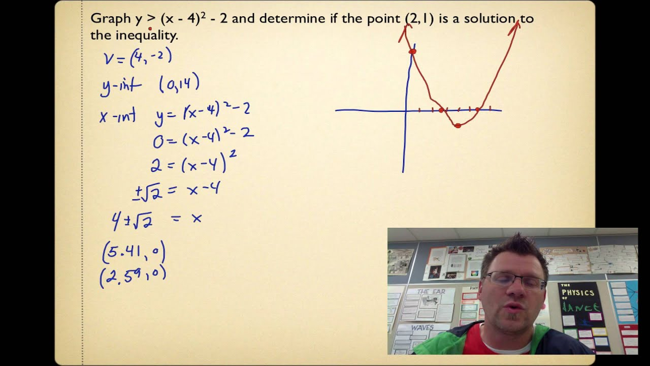 9 3 Quadratic Inequalities In Two Variables Pre Calc 20