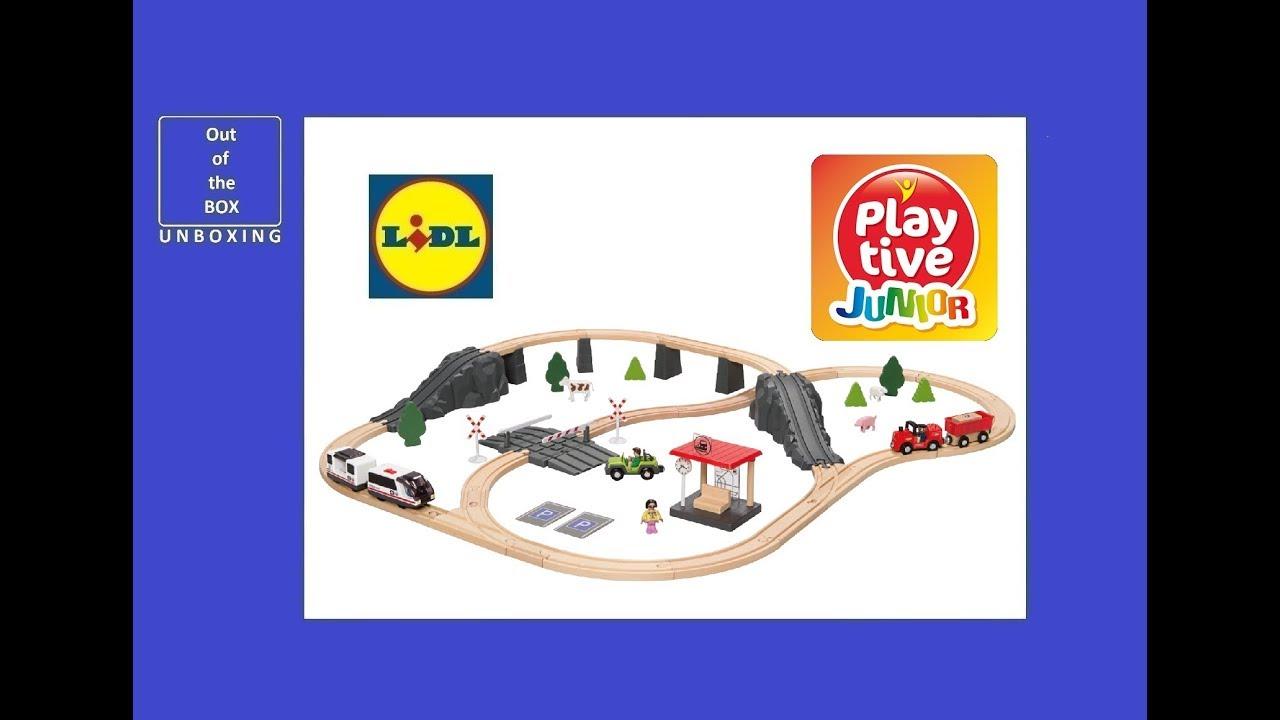 playtive junior railway set unboxing (lidl for age 3 - 8, 70 pcs)