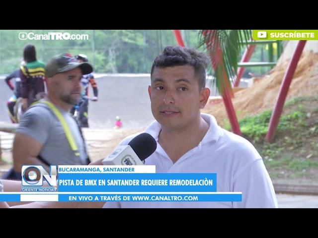 Pista de BMX en Santander requiere remodelación