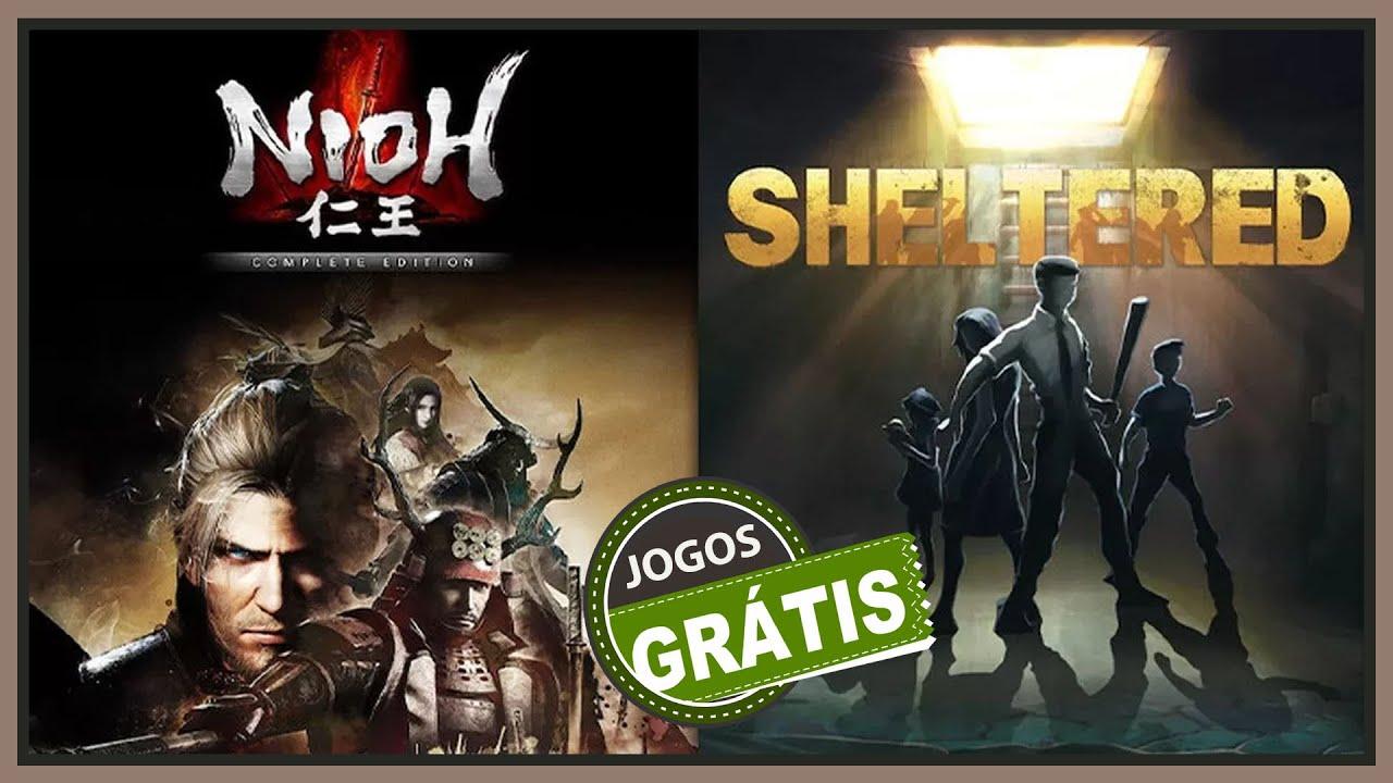 Jogo: Nioh: The Complete Edition e Jogo: Sheltered e DLC: BF1 e DLC: BF4 - TUDO FREE PARA VOCE