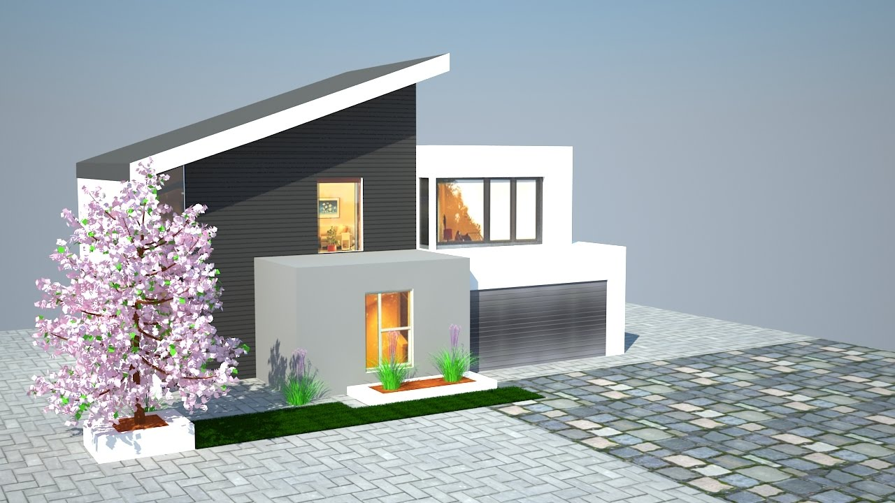 3ds Max Exterior Tutorial Youtube: build house online 3d free