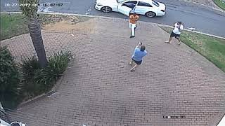 Victim defends himself against armed robbers