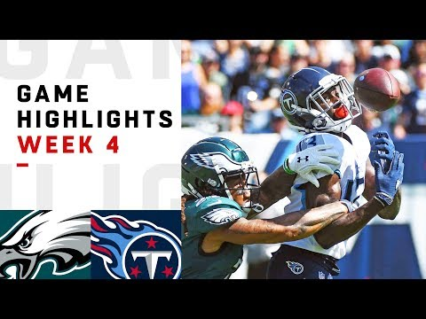 Eagles vs. Titans Week 4 Highlights | NFL 2018