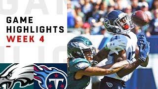 Eagles vs. Titans Week 4 Highlights | NFL 2018