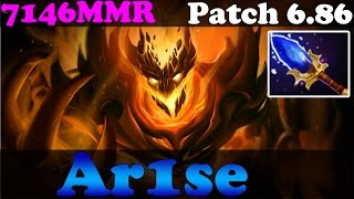 Dota 2 - Patch 6.86 : Ar1se 7146MMR Plays Shadow Fiend With Aghanim's Scepter - Ranked Gameplay