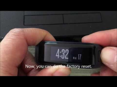 How to factory reset garmin vivosmart HR to Factoryt Setting Completely