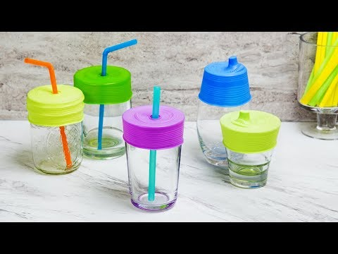 Ditch plastic drinking cups for spill-proof silicone.