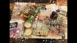 ACTION Haul 08.11.18 { NEUE Washis, NEUE Sticker } !