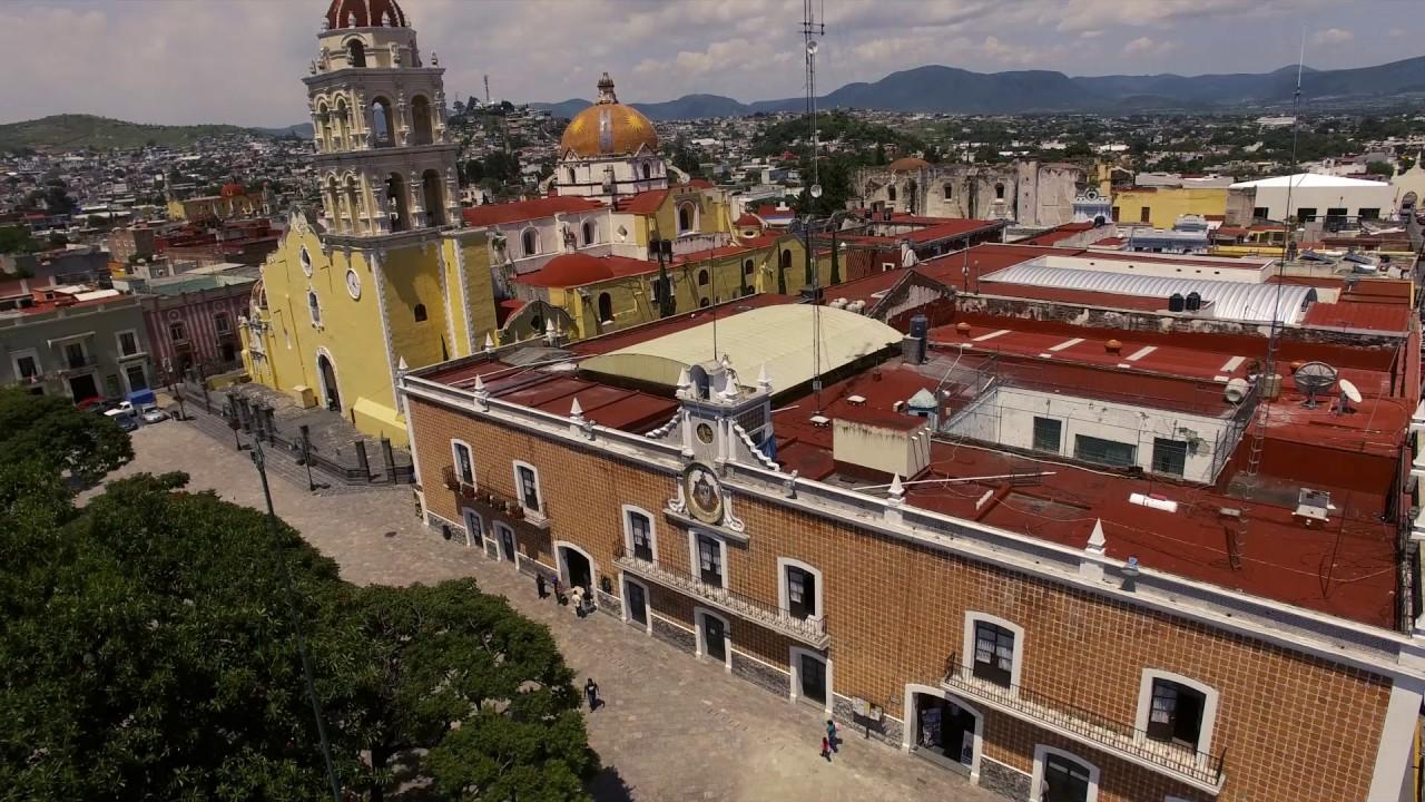 El Palacio Municipal de Atlixco visto desde las alturas.
