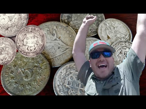 Thumbnail: Metal Detecting Fists Full Of Treasure! Carson City Silver Coins Galore!