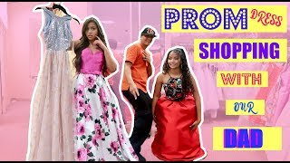DAD PICKS OUT OUR PROM DRESSES!?! | MontoyaTwinz