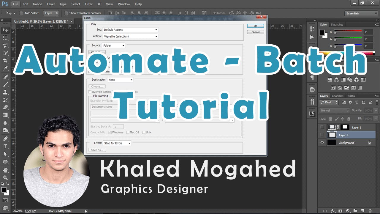 How to batch edit in photoshop | free video tutorial | floating.