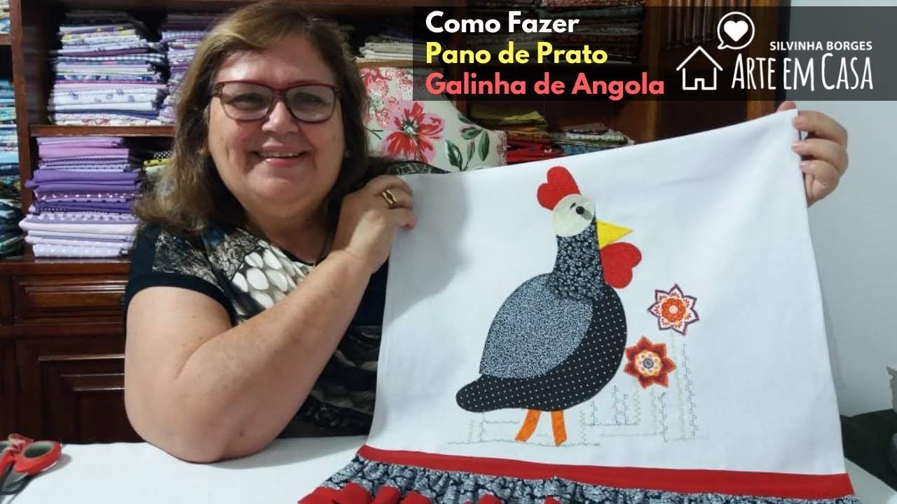 Pano De Prato Da Galinha Da Angola Arte Em Casa