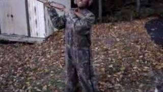 girl shoots a 12 gauge 3 1 2 inch shotgun